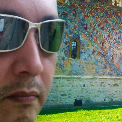 Stan Faryna at the Moldavita Monastery