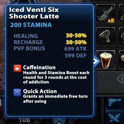Iced Venti Six Shooter Latte