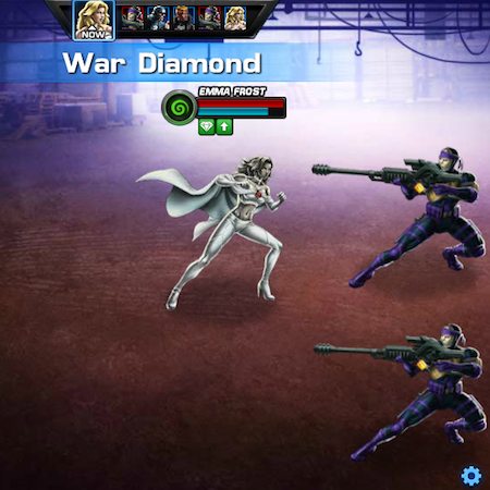 Marvel Avengers Alliance: Emma Frost Does War Diamond