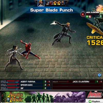 Super Blade Punch finishes Jack O'Lantern