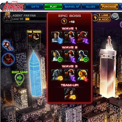 Marvel Avengers Alliance Epic Boss Battle: The Hood