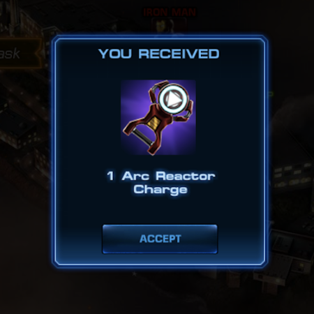 Marvel Avengers Alliance: Epic Boss Reward: Arc Reactor Charge