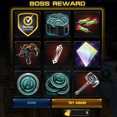Marvel Avengers Alliance: Boss Rewards: Re-Roulette