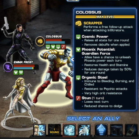 Marvel Avengers Alliance: Colossus:  Phoenix Five Uniform