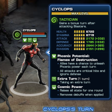Marvel Avengers Alliance: Cyclops: Phoenix Five Uniform