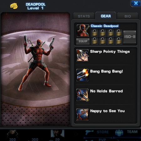 Marvel Avengers Alliance: Heroes: DeadPool: Skills