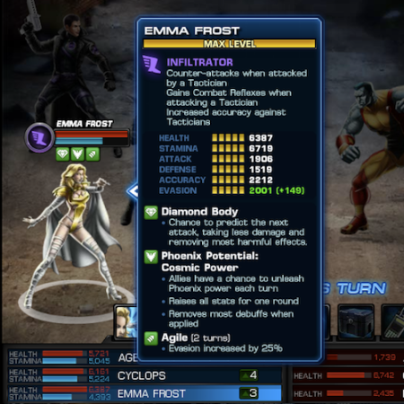 Marvel Avengers Alliance: Emma Frost: Phoenix Five Uniform