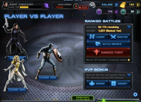 Marvel Avengers Alliance: PVP: Season 6 Rank 1