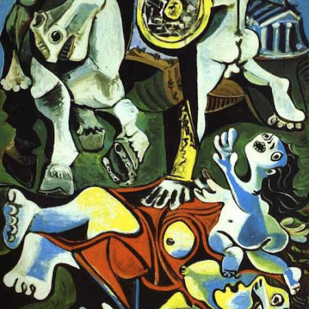 An incomplete picture of Picasso's Rape of the Sabine Women