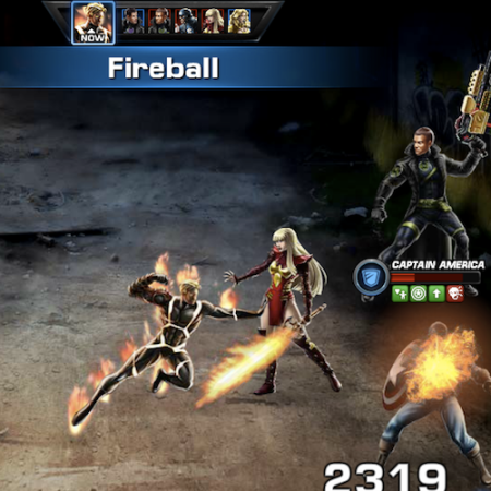 Marvel Avengers Alliance: PVP: Season Six Fight with Human Torch