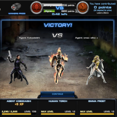 Marvel Avengers Alliance: PVP: Season Six: Heroes