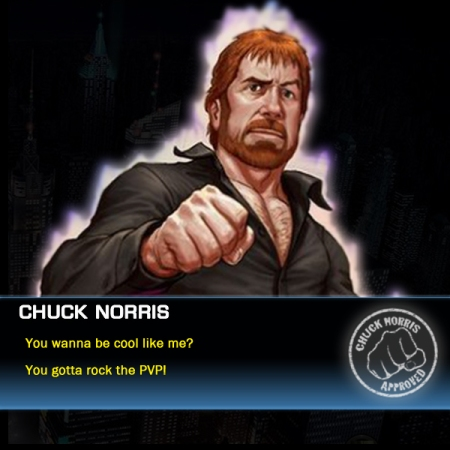 Chuck Norris likes PVP in Marvel Avengers Alliance
