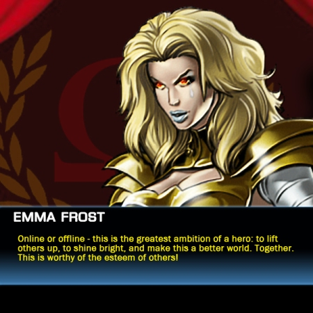 Emma Frost speaks about human ambition