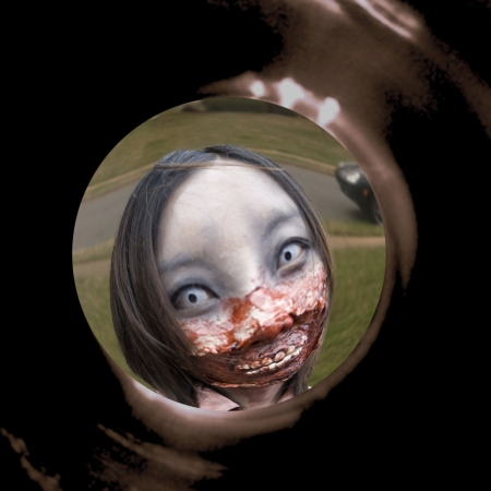 zombie through a peephole