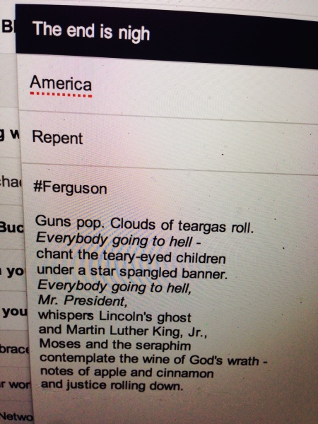 Almost Poetry: #Ferguson